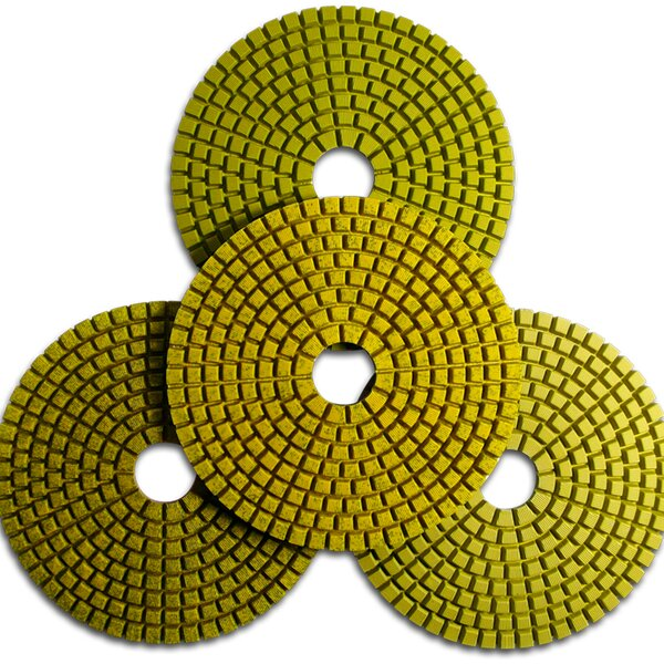 Set 4 Teile, Schleifpads, 4 Step Polishing Pad, 100 mm
